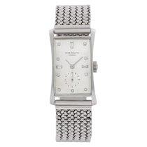 Patek Philippe Hour Glass Platinum 21.5mm Silver No numerals