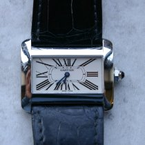 Cartier Tank Divan pre-owned 32mm White Leather