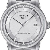 Tissot Luxury Automatic Zeljezo 42mm Srebro Bez brojeva