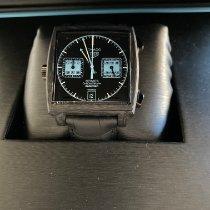 TAG Heuer Carbone Remontage automatique Noir Sans chiffres 39mm nouveau Monaco