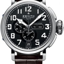 Zenith Steel Automatic Black Arabic numerals 48mm new Pilot Type 20 Annual Calendar