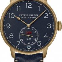 Ulysse Nardin Bronze Automatic Blue Arabic numerals 44mm new Marine Torpilleur
