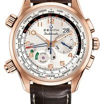 Zenith El Primero Doublematic Rose gold 45mm Champagne Arabic numerals United States of America, Florida, Sunny Isles Beach