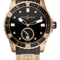 Ulysse Nardin Rose gold Automatic Black 40mm new Lady Diver