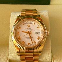 Rolex Day-Date II nuevo 2010 Automático Reloj con estuche y documentos originales 218238
