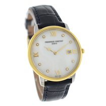 Frederique Constant Slimline Gold/Steel 39mm Mother of pearl Arabic numerals United States of America, New York, New York