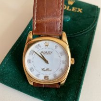 Rolex Yellow gold Manual winding White Arabic numerals 38mm pre-owned Cellini Danaos