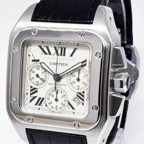 Cartier Santos 100 Stal 41mm Srebrny Rzymskie