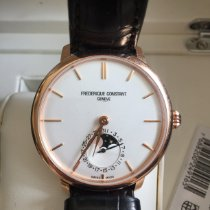 Frederique Constant Manufacture Slimline Moonphase Or/Acier 38,8mm Argent France, Paris