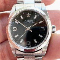 Rolex Oyster Perpetual 31 Stahl 31mm Schwarz Arabisch Schweiz, Herrenschwanden