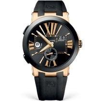 Ulysse Nardin Executive Dual Time Rose gold 43mm Black Roman numerals