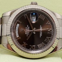 Rolex Day-Date II White gold 41mm Brown