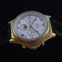 Zenith Yellow gold Automatic Silver Roman numerals 40mm pre-owned El Primero Chronomaster