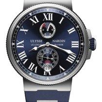 Ulysse Nardin Marine Chronometer Manufacture Сталь 45mm Синий Римские Россия, Москва
