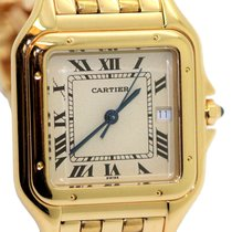 Cartier Panthère Yellow gold 28mm Silver Roman numerals United States of America, New York, Greenvale