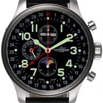 Zeno-Watch Basel OS Pilot Steel 47mm Black Arabic numerals