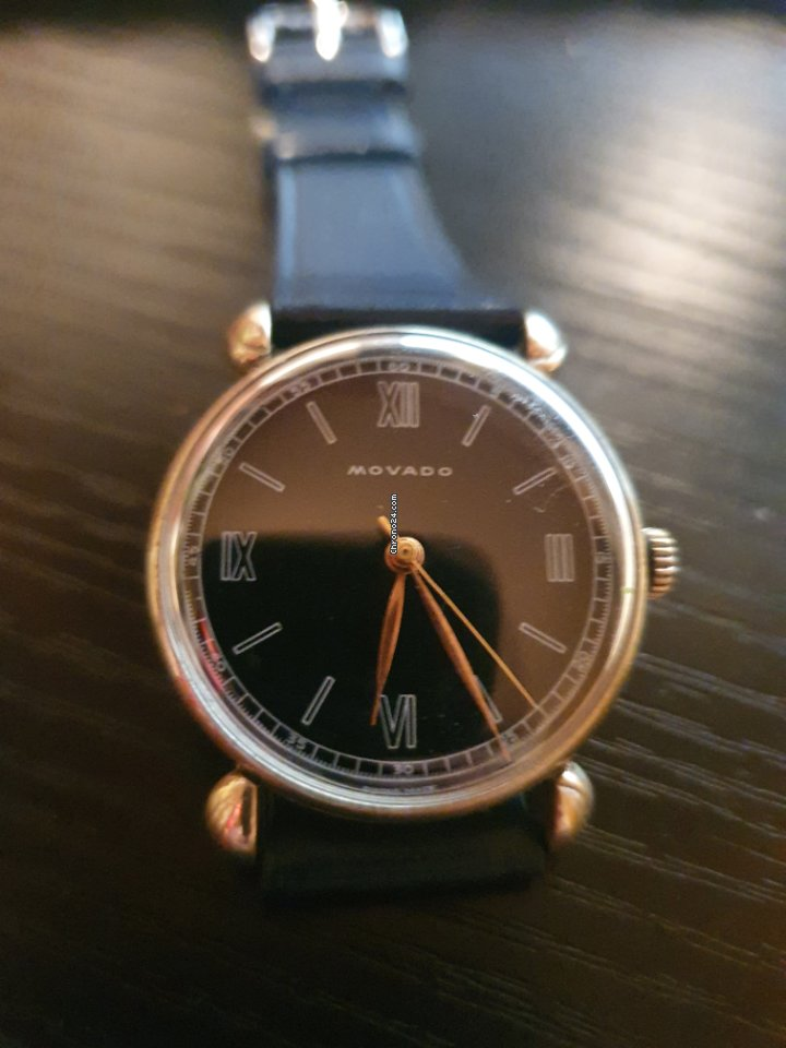 Movado Vintage Lacquered Glossy Dial 1945 Tear