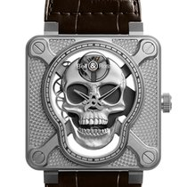 Bell & Ross BR 01 new 2020 Manual winding Watch with original box and original papers BR01-SKULL-SK-ST