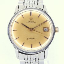 Omega pre-owned Automatic 34.5mm Champagne Plexiglass