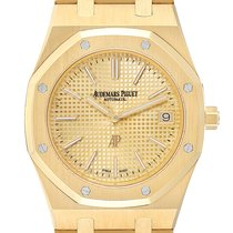 Audemars Piguet Yellow gold Automatic Champagne 39mm pre-owned Royal Oak Jumbo