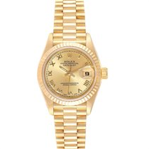 Rolex Lady-Datejust Or jaune 26mm Champagne Romains