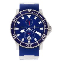 Ulysse Nardin White gold Automatic Blue 43mm pre-owned Maxi Marine Diver