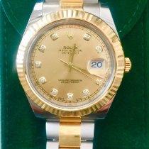 Rolex Datejust II usados 41mm Champán Fecha Acero y oro