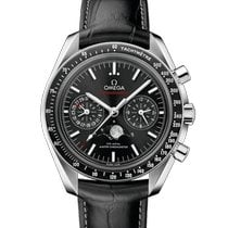 Omega Speedmaster Professional Moonwatch Moonphase Сталь Чёрный Без цифр