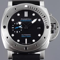 Panerai Luminor Submersible 1950 3 Days Automatic Tytan 47mm Czarny Bez cyfr