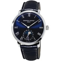Frederique Constant Manufacture Slimline Moonphase Staal 42mm Blauw