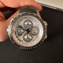 Hamilton Khaki X-Wind rabljen 45mm Srebro Kronograf Datum, nadnevak Sedmicni pokazivac Kaučuk