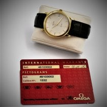Omega Or jaune Quartz Arabes 34.4mm occasion De Ville Prestige