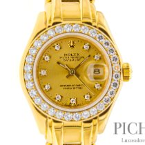 Rolex 69298 Oro amarillo 1992 Lady-Datejust Pearlmaster 29mm usados