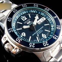 Seiko 5 Sports Steel 40mm Blue Arabic numerals
