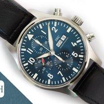 IWC Pilot occasion 43mm Bleu Cuir