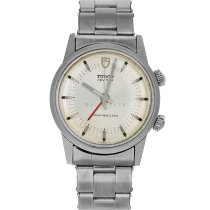 Tudor Heritage Advisor pre-owned 34mm Silver Alarm Steel
