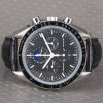 Omega Speedmaster Professional Moonwatch Moonphase Сталь 42mm Чёрный Без цифр
