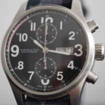 Hamilton Khaki Field Officer pre-owned 44mm Black Chronograph Steel