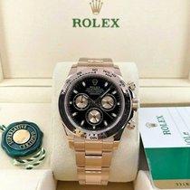 Rolex Daytona Or rose 40mm Noir Sans chiffres