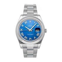Rolex Datejust II Acier 41mm Bleu Romain
