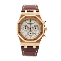 Audemars Piguet Royal Oak Chronograph Or rose 39mm Blanc
