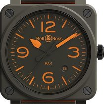 Bell & Ross new Automatic Luminous numerals Luminous hands Limited Edition Quick Set PVD/DLC coating 42mm Ceramic Sapphire crystal