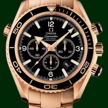 Omega Or rouge Remontage automatique Noir 45.5mmmm occasion Seamaster Planet Ocean Chronograph