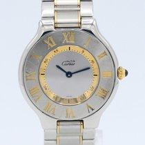Cartier 21 Must de Cartier Gold/Steel 31mm Grey Roman numerals