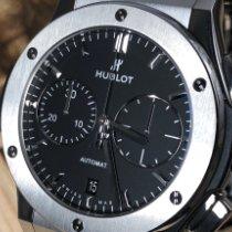 Hublot Classic Fusion Chronograph Титан 45mm Чёрный Без цифр