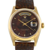 Rolex Day-Date 36 Or jaune 36mm Brun Sans chiffres France, Paris