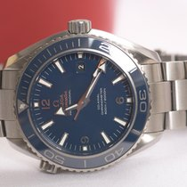 Omega Titanium Automatic Blue Arabic numerals 45.5mm pre-owned Seamaster Planet Ocean