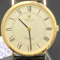 Rolex Cellini Or jaune 32mm Blanc Romains France, Paris