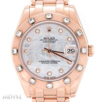 Rolex Lady-Datejust Pearlmaster Or rose 34mm Nacre