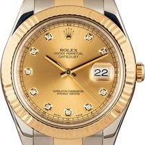 Rolex Datejust II Gold/Steel 41mm Gold Roman numerals
